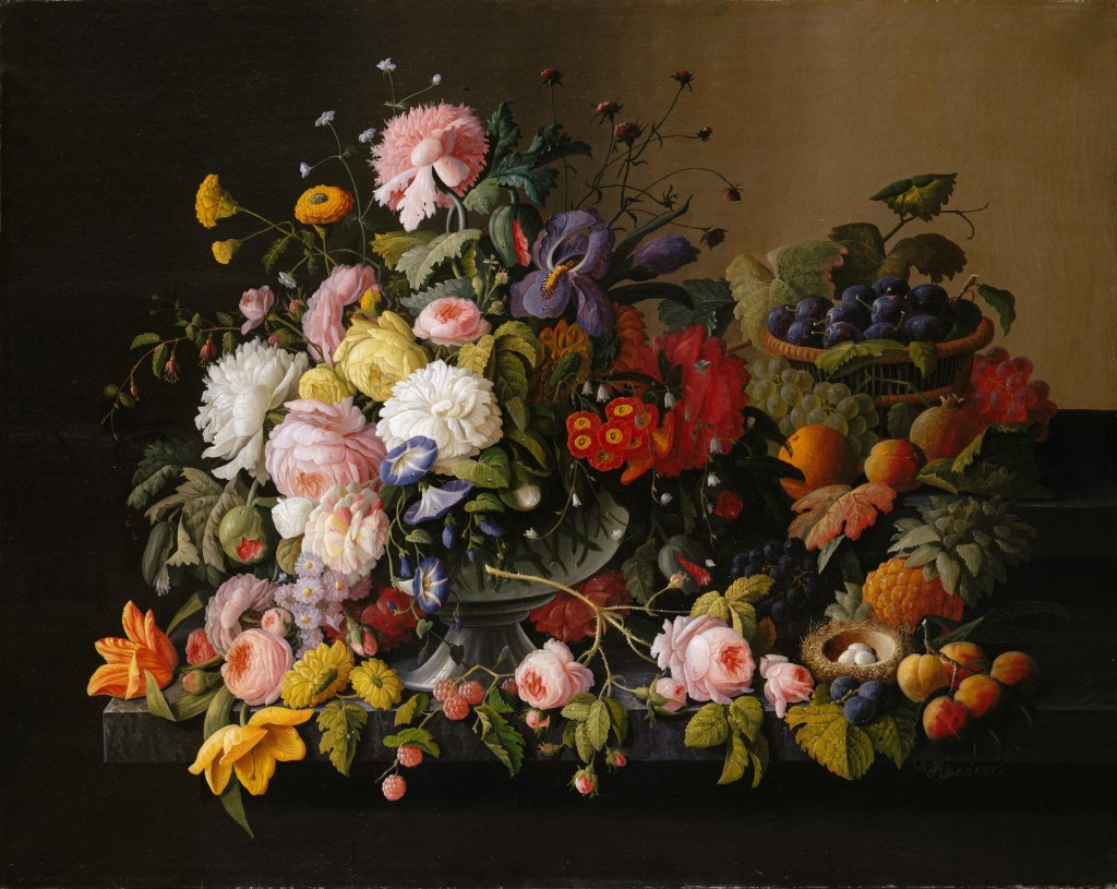 Severin_Roesen_-_Still_Life,_Flowers_and_Fruit