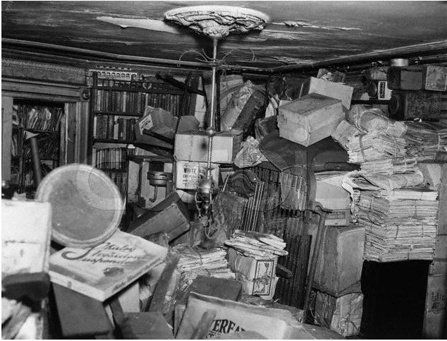 Over 140 tons of hoarded treasures were removed from the Collyer brother's residence