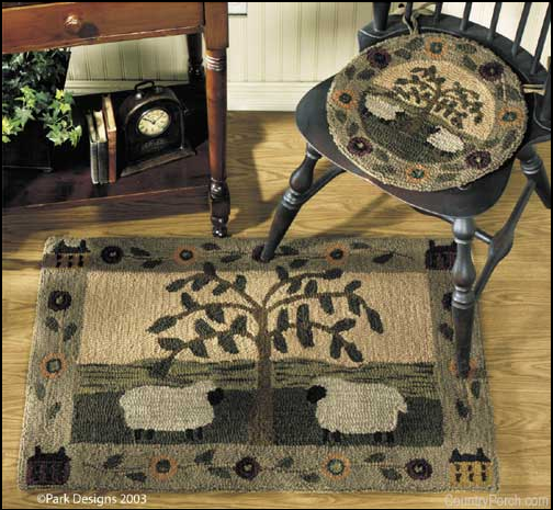 Add charm and another layer of interest with an area rug