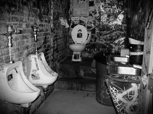 Back In the day - Bathroom at CBGB's